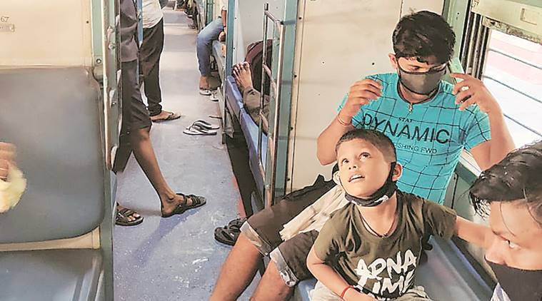Rush for seats as first train leaves from Surat, site of migrant unrest