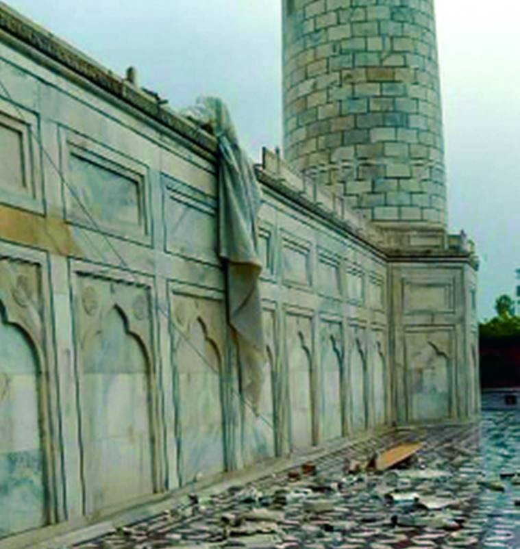 Strong winds damage portions of Taj, kill eight in 2 districts