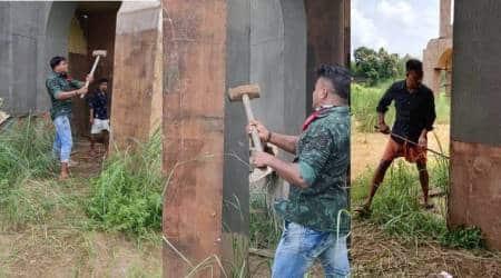 Tovino Thomas, Tovino Thomas film set vandalised, Tovino Thomas movie set vandalised, Minnal Murali movie, Minnal Murali movie set vandalised, India news, Indian Express