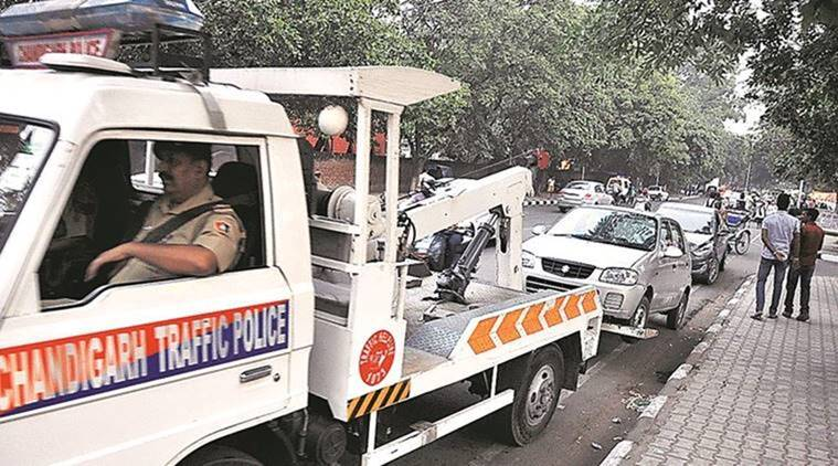 coronavirus, coronavirus putbreak, coronavirus in chandigarh, chandigrah traffic police, chandigarh curfew violation, indian express news