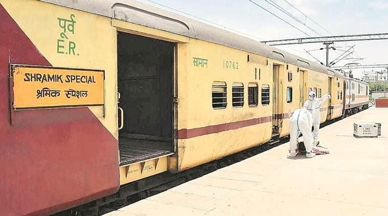 coronavirus, coronavirus in ahmedabad, ahmedabad sharmik trains, migrant workers in ahmedabad, migrant workers from odissa, indian express news