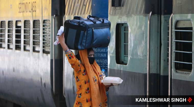 finance minister nirmala sitharaman economic package, migrant labourers nirmala sitharaman speech, migrant labourers special train,