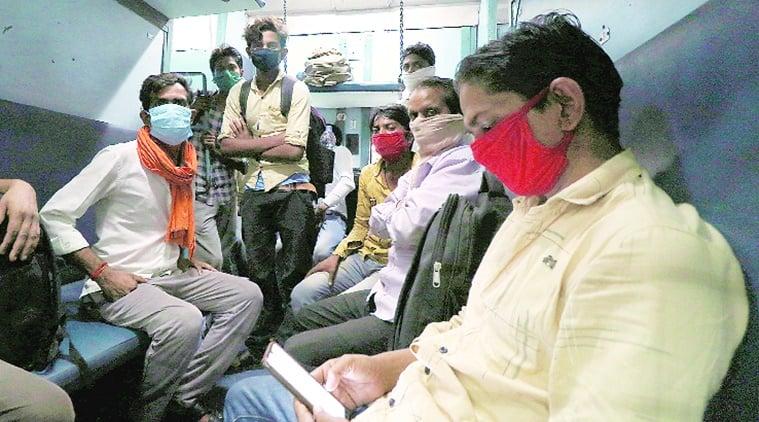coronavirus, coronavirus outbreak, india lockdown, migrant workers, migrant workers in up, migrant workers train in up, indian express news