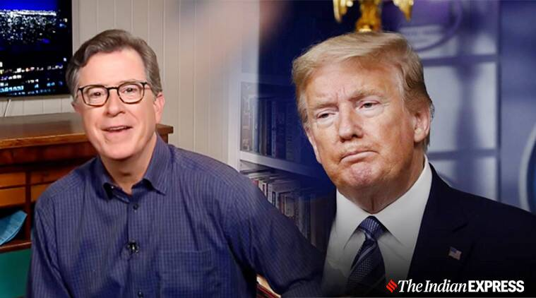 Viral Video Stephen Colbert Criticises Us President Donald Trump S Lincoln Memorial Town Hall Trending News The Indian Express