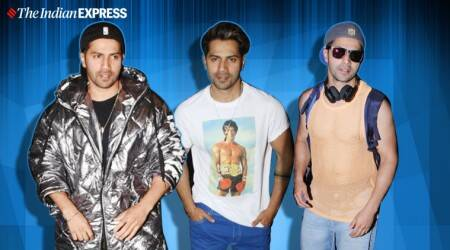 Varun Dhawan, Varun Dhawan airport looks, Varun Dhawan airport, bollywood airport looks, indian express news