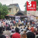 A rally to protest the killing of two men in police custody in Tamil Nadu
