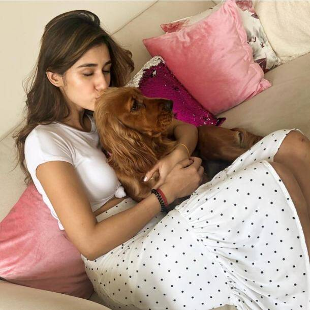 disha patani dog lover