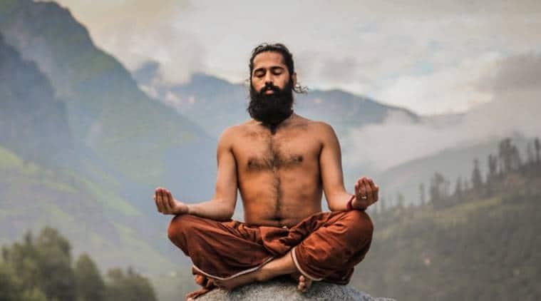 yoga pose,Swaas Dhyan