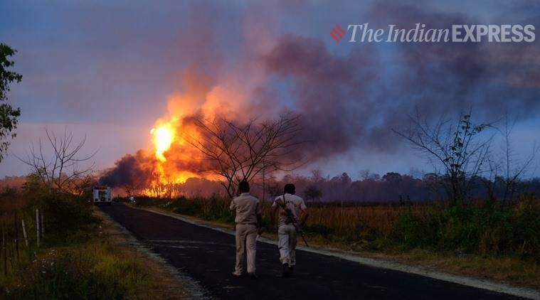 assam gas leak, assam gas well blowout fire, assam fire deaths, assam news, Indian Express