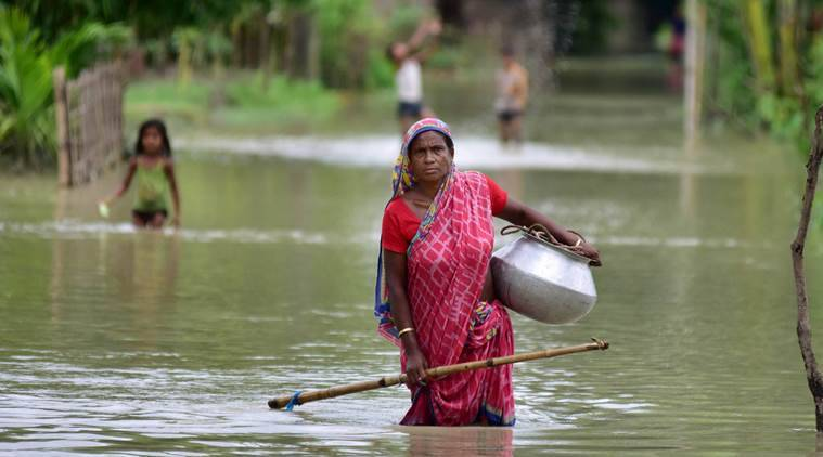 Assam floods, Assam floods death toll, floods in Assam, Assam floods news, India news, Indian Express