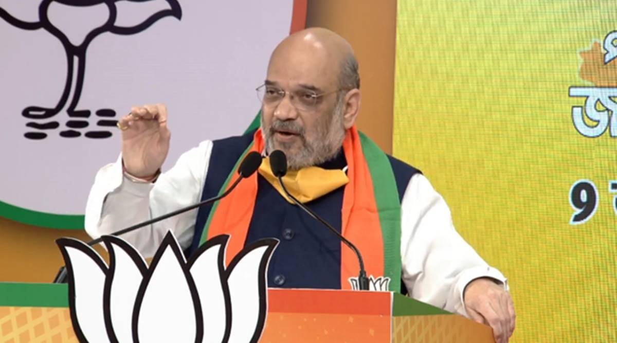 Bengal: Amit Shah arrives today, to visit Suvendu stronghold, hold roadshow in Bolpur - The Indian Express