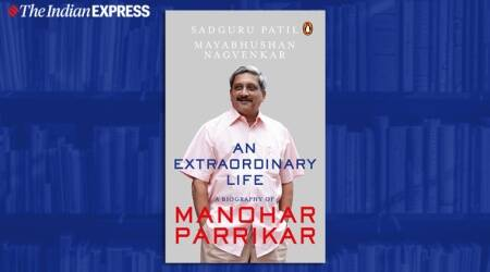 Manohar Parrikar, Manohar Parrikar book, Manohar Parrikar biography, an extraordinary life, indian express, indian express news