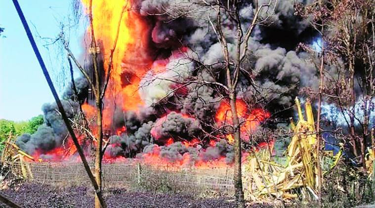 Assam well fire, Oil India Limited, natural gas leak, Assam news, indian express news