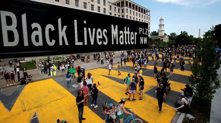 Black lives matter, #Blacklivesmatter, George Floyd, black lives matter anniversary, seven years of black lives matter, black movements in america, black protests in America, civil rights movement in america, Martin Luther King Jr, world news, Indian Express