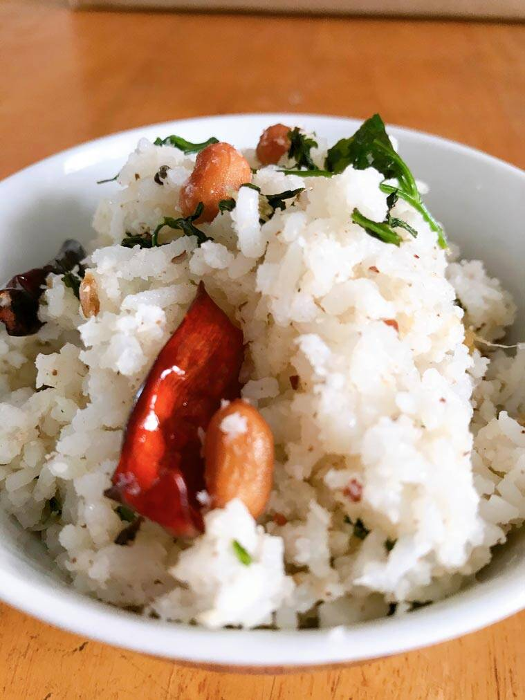 coconut rice, coconut rice recipe, easy recipes, leftover rice recipe, breakfast recipe, quick recipes