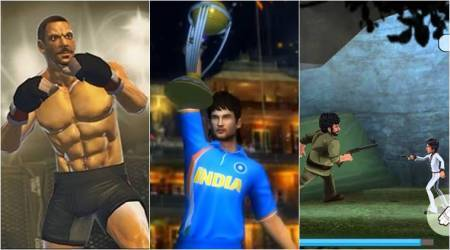 Bollywood movies games, Indian movie based games, Sultan game, Dhoom 3 game, Dhoni untold story game, Sushant Singh Rajput, Sholay android game, baahubali game