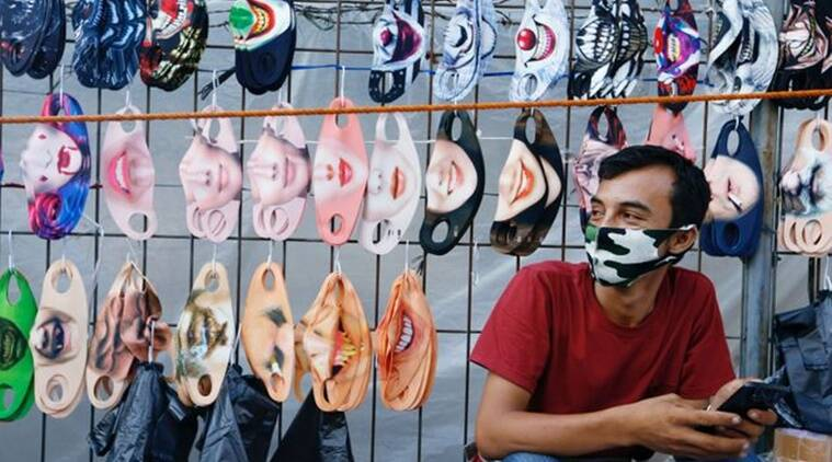 Indonesia, Malaysia, Face mask, COVID-19 mask, COVID-19 face mask, Fashion face mask, COVID-19, Coronavirus pandemic, Trending news, Indian Express news.