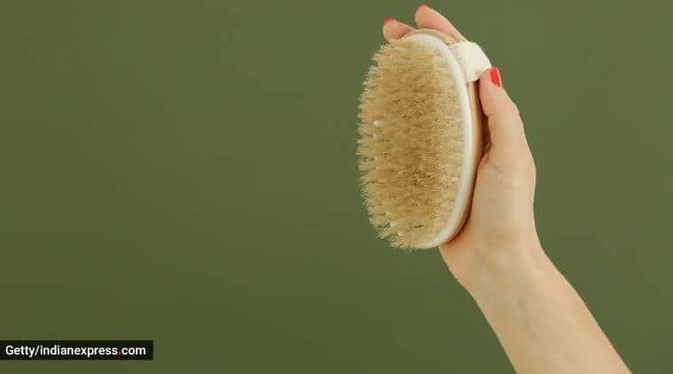 brushing the skin, dry brushing, dry brushing the skin, dry brushing for skincare, skincare, indian express, indian express news