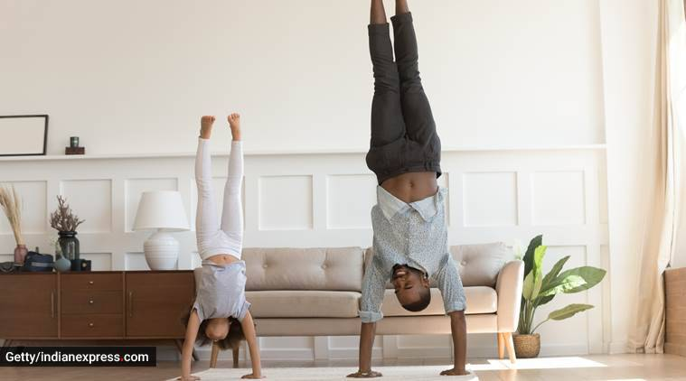 physical fitness in lockdown for kids and aduts, physical fitness indoors for kids, health and fitness, parenting, indian express, indian express news