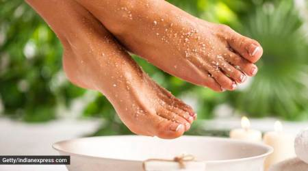 foot scrub, feet scrub, foot scrubbing, pedicure, home pedicure, skincare, indian express, indian express news