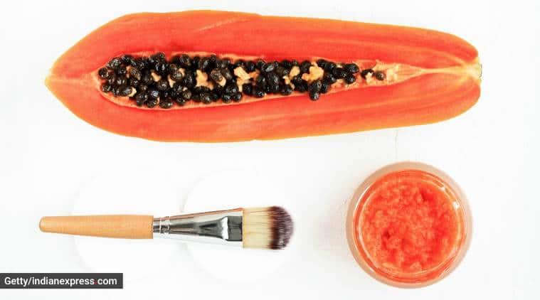 facial hair removal, natural way to remove facial hair, papaya face pack for hair removal, skincare, indian express, indian express news