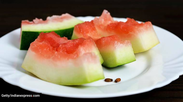 watermelon, health benefits of watermelon, watermelon rind, health benefits of watermelon rind. watermelon rind smoothie, indian express news