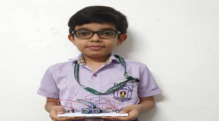 Class 5 student invents device that sounds alarm to maintain safe social distance
