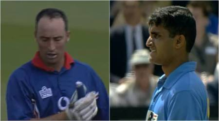 Sourav Ganguly, Mohammad Kaif, Nasser Hussain, Ganguly Hussain banter, Ganguly first Test wicket, Ganguly Test debut, Natwest Trophy final, cricket news
