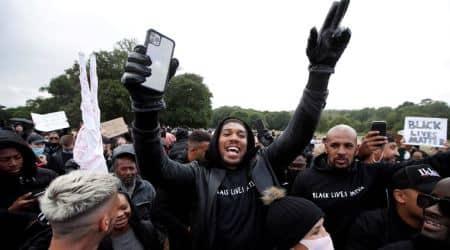 Anthony Joshua, Anthony Joshua protest, Anthony Joshua US racism, George Floyd murder, Watford protest against racism, black lives matter protest