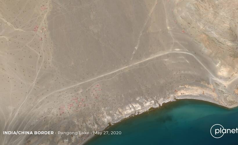 Satellite imagery shows how Chinese changed status quo on Pangong bank