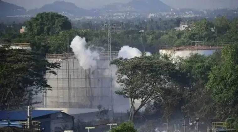 vizag gas leak, vishakhapatnam gas leak, lg polymers gas leak villages, vizag gas leak, lg polymers plant, indian express