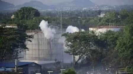 vizag gas leak, vishakhapatnam gas leak, lg polymers gas leak villages, vizag gas leak, lg polymers plant, indian express