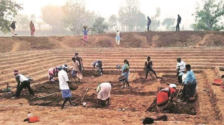 mnrega, mnrega job spike, mahatma gandhi national rural employment gurantee act, congress on mnrega wage, labour workforce, jobs, india news, indian express