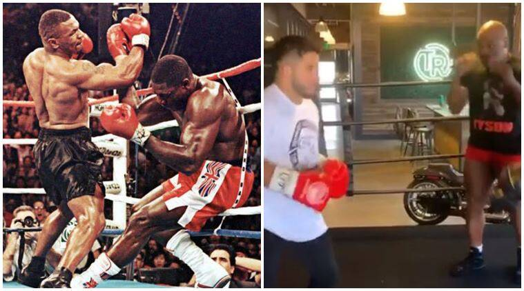Mike Tyson, Mike Tyson upper cut, Mike Tyson punching video, Mike Tyson latest video, Henry Cejudo, sports news