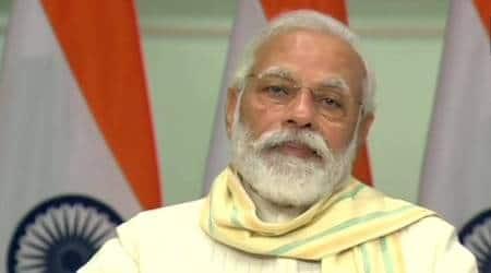 PM Modi launches garib kalyan scheme, Garib Kalyan Rojgar Abhiyan, Narendra Modi, Coronavirus, India lcokdown, scheme for labourers, India news, Indian express