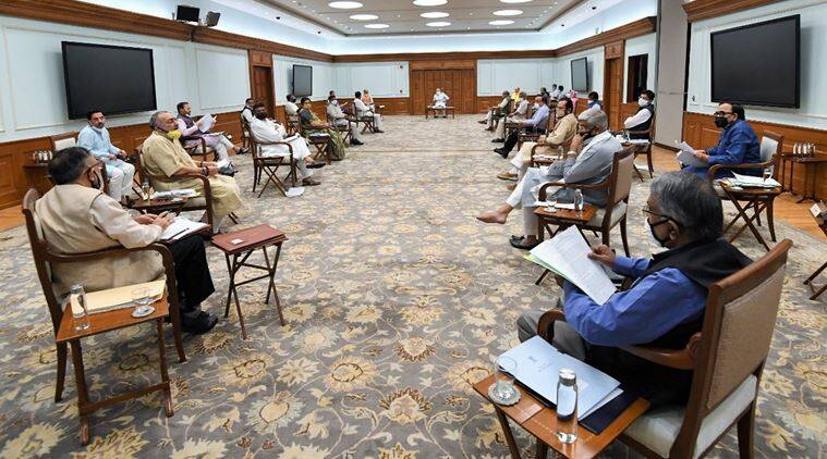 modi cabinet meeting, pm modi cabinet meeting, india lockdown, lockdown relaxations, economic relief package, lockdown economic relief package, Rs 20-lakh crore relief package, India news, indian express news