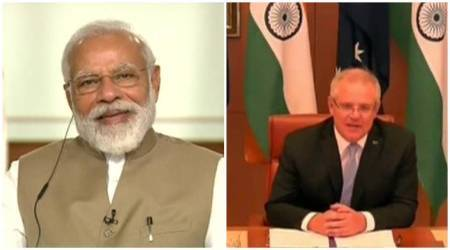 PM Modi laughs as Australian PM refers to hologram used for 2014 election campaigning, talks about Samosa and khichdi