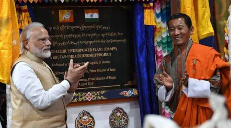 india bhutan hydroelectric power plant, hydroelectic power plant bhutan, india bhutan relations, india bhutan DGPC projects, DGPC projects india bhutan, bhutan india relations, india NHPC project, bhutan NHPC project, pm modi in bhutan, modi in bhutan, india news, Indian Express