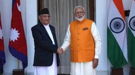 India nepal talks, india nepal bilateral ties, india nepal new,s narendra modi KP sharma oli, Kalapani, indian express enws