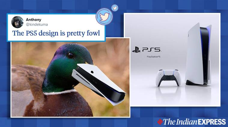 How People Responded To The Design Of Sony S Playstation 5 Console On Social Media Trending News The Indian Express