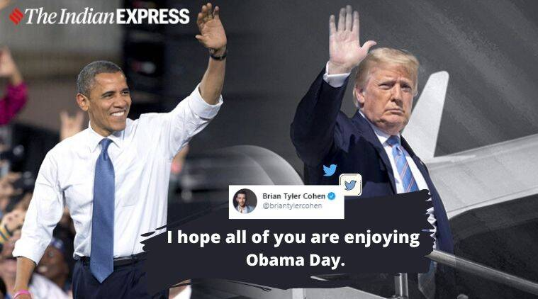 Donald Trump, Barack Obama, Donald Trump birthday, #AllBirthdaysMatter, Obama Appreciation Day, Trending news, Indian Express news