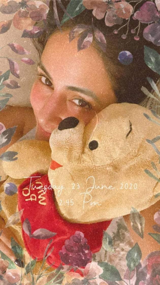 Hina Khan with teddy