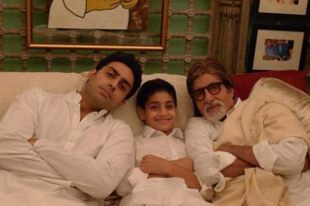 abhishek bahchan with amitbh bachchan