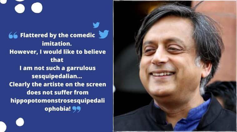 Congress MP Shashi Tharoor, Shashi Tharoor English vocabulary, Saloni Gaur's video on Shashi Tharoor, Shashi Tharoor vocabulary memes, hippopotomonstrosesquipedaliophobia, Trending news, Indian Express news.