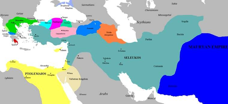 The Seleucid Empire founded by Seleucus Nicator I