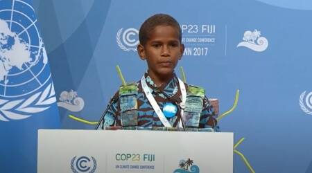 Timoci Naulusala speech, COP23 speech, Timoci Naulusala cop 23, world environment day, cop23 germany, life positive, indianexpress.com, famous speeeches by children, sustainable living, speech, COP23 speech, Timoci Naulusala cop 23, world environment day, cop23 germany, life positive, indianexpress.com, famous speeeches by children, sustainable living,