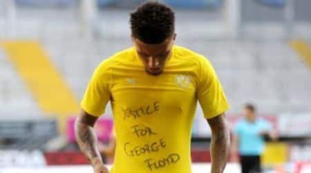 Jadon Sancho protests, footballer Jadon Sancho, George Floyd death, Blacks vs Whites in US, Borussia Dortmund;s Jadon Sancho