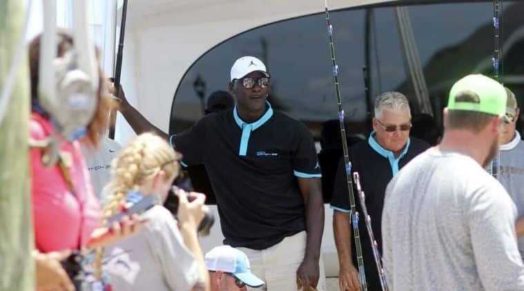 Michael Jordan, Michael Jordan fishing, Michael Jordan nabs marlin, NBA star Michael Jordan