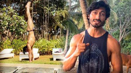 handstand, common handstand mistakes, vidyut jammwal yoga, vidyut jammwal handstand, how to do a handstand, fitness goals, indianexpress, indianexpress.com