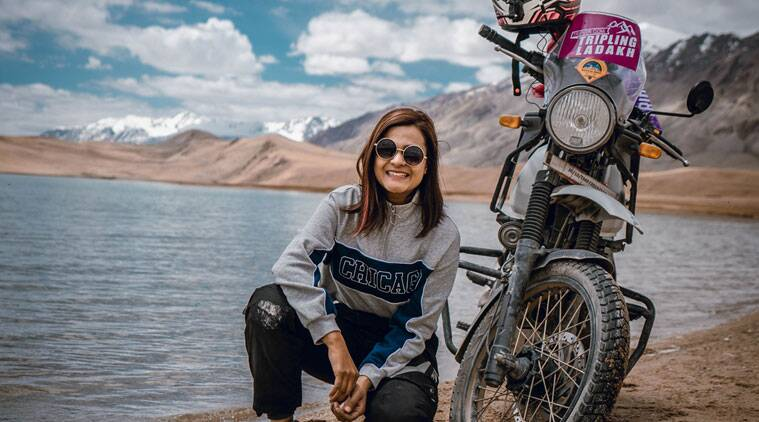 Vishakha Fulsunge, motovlogger, motovlogging, woman solo traveller, indian express lifestyle